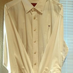 Vineyard Vines: White button down, L